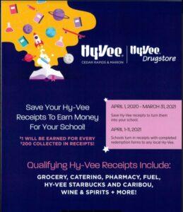 HyVee Receipts 2