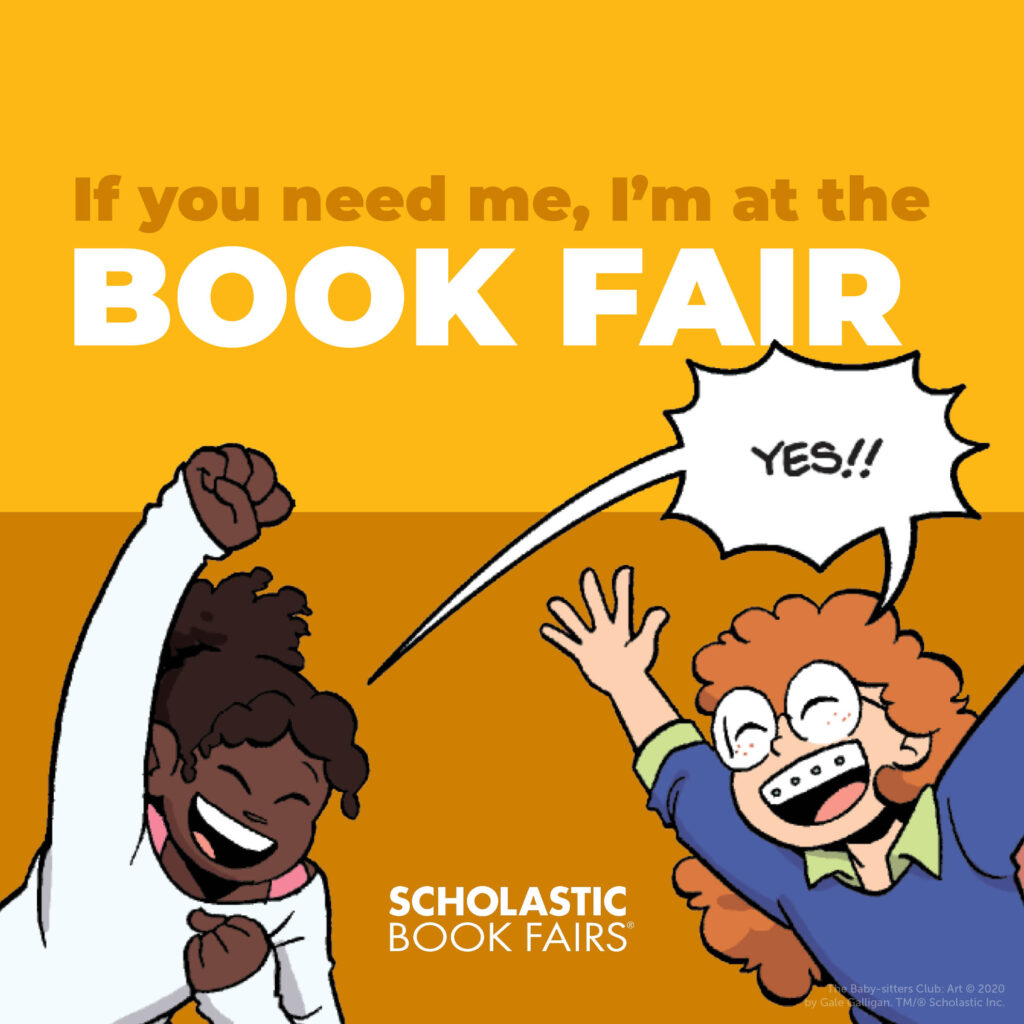 If you need me, I'm at the book fair!